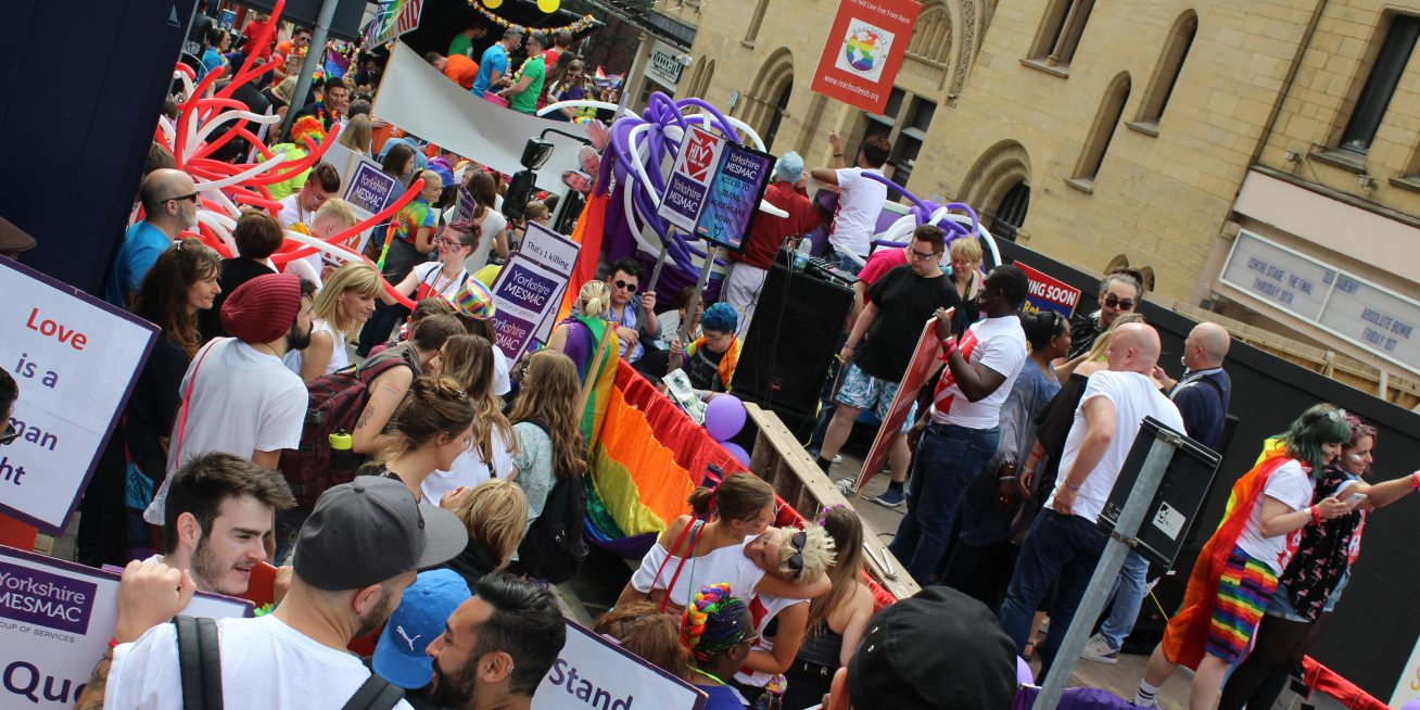 A protest to 'Reclaim Leeds Pride'