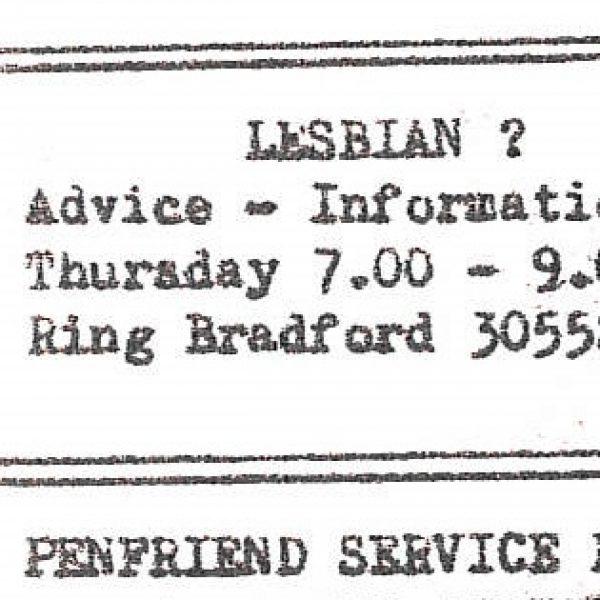Bradford's lesbian scene