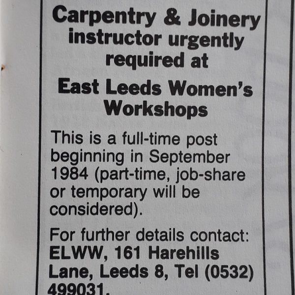 The Women's Workshop in Leeds