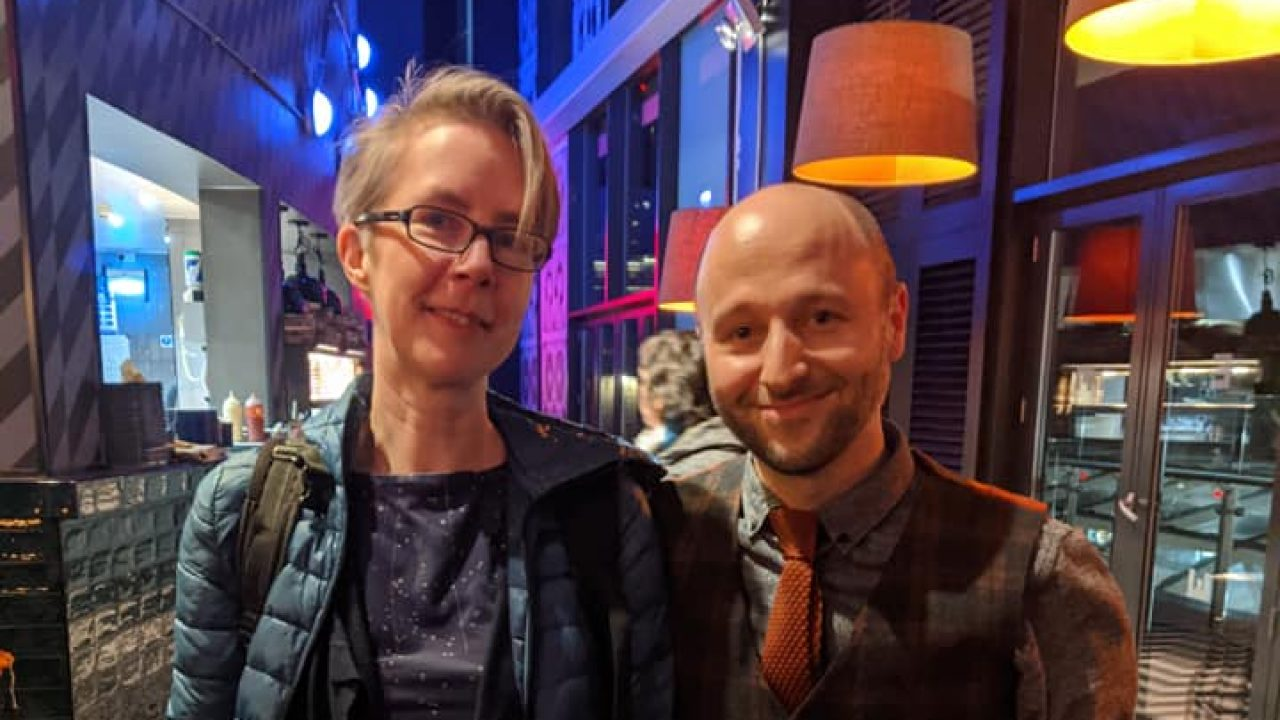 Ray and Ross at the screening of our WYQS short films at the Everyman Cinema, Leeds, for LGBT History Month 2020