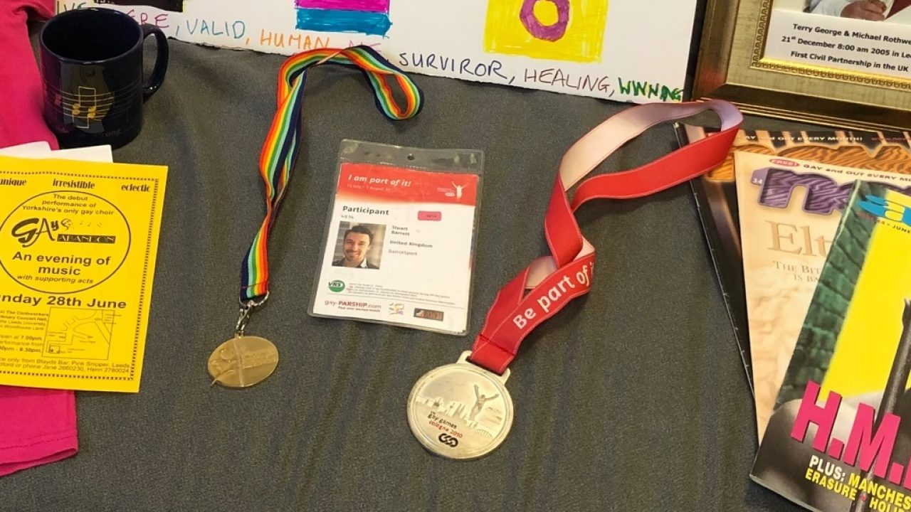 Stuart's medals from the 8th Gay Games (Cologne 2010) and 13th Euro Games (Rotterdam 2011) have now been donated to Leeds Museums.